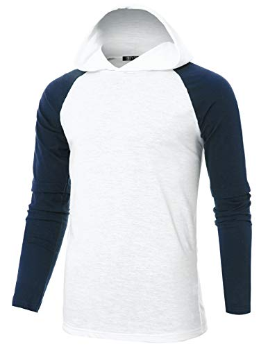 GIVON Mens Slim Fit Layered Long Sleeve Lightweight Raglan Echo Knit -