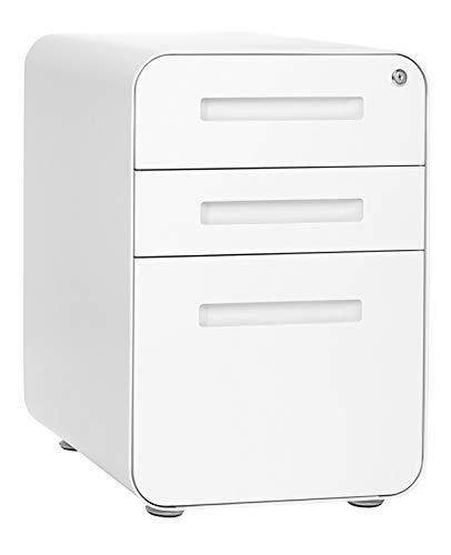 Stockpile 3-Drawer File Cabinet, Commercial-Grade (White)