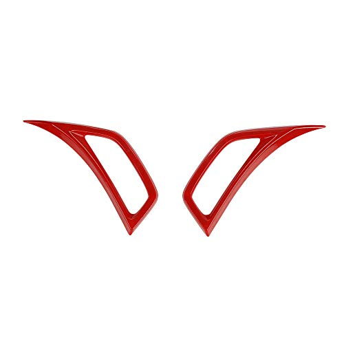 - KKmoon 2Pcs Car Leaf Plate Air Inlet Trim Cover Moulding Trim, Leaf Plate Air Inlet Decoration Trim Cover Fit for Jeep Wrangler JL 2018,Red