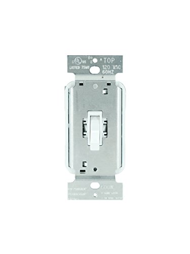 Legrand - Pass & Seymour T600WV Toggle Dimmer Light Switch 600-watt Single Pole Easy Install, White