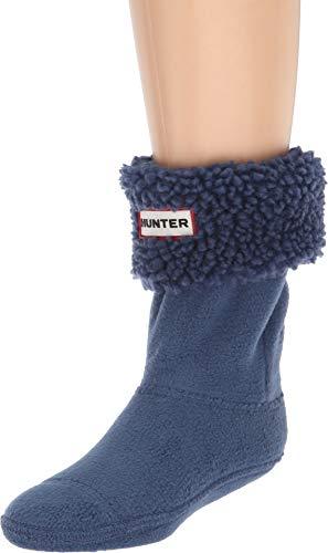 Hunter Kids Unisex Sheepy Fleece Cuff Boot Sock  Peak Blue X