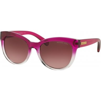 Michael Kors Mitzi I Square Cat Eye Sunglasses Fuschia Clear - Clear Michael Glasses Kors