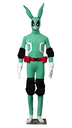 Midoriya Costume - Dazcos My Boku no Hero Academia Midoriya Izuku Cosplay Jumpsuit Costume (Men X-Small)