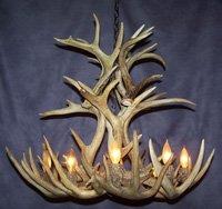 Whitetail Deer Cascade Antler Chandelier Light