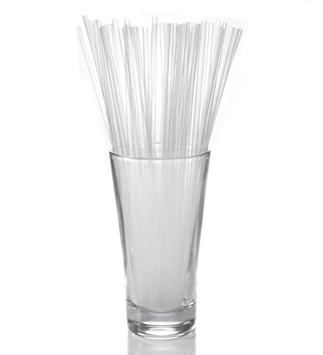 Collins Straws - CLEAR (Box of 500)