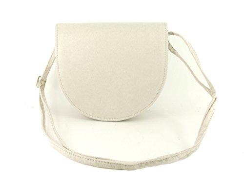 Compact LONI Saddle Size Beauty Womens Bag Cross Bag Ivory Body Shoulder FOPFB8