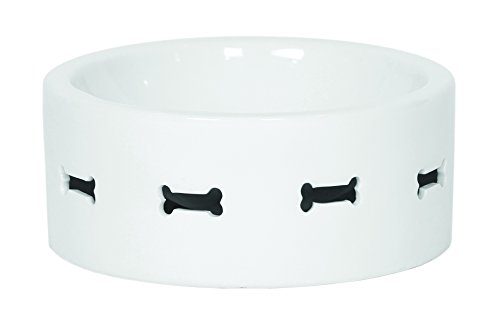 Unleashed Life Bone Appetit Collection Porcelain Bowl, Medium by Unleashed Life