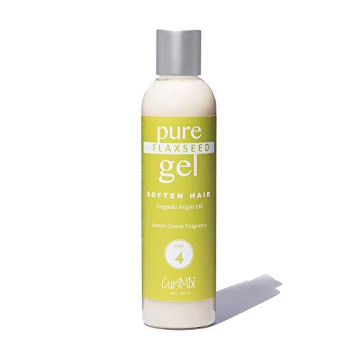 Pure Homemade Flaxseed Gel (Lemon Crème Fragrance & Organic Argan Oil) As Seen On Shark Tank