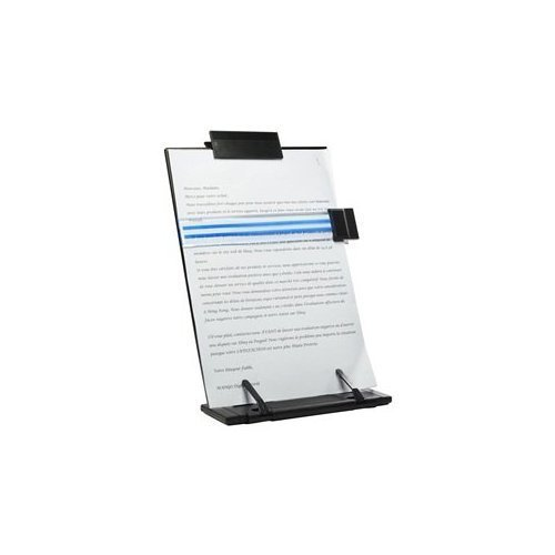Lost ocean Black Metal Desktop Document Book Holder with 7 Adjustable - Copyholder Metal Fellowes