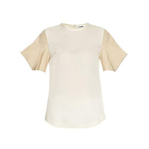 哀腐食する定期的に(ジル サンダー) Jil Sander レディース トップス Acorn structured-sleeve silk-satin top [並行輸入品]