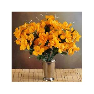6 Orange Bushes Silk Mini PRIMROSES Wedding Flowers Bouquets Decorations on Sale 24
