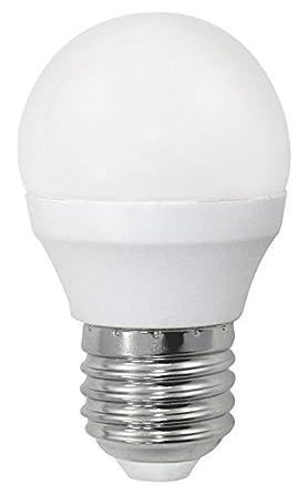 Wonderlamp W-B000001 - Bombilla LED alta potencia E27 esférica , 6 W , Luz