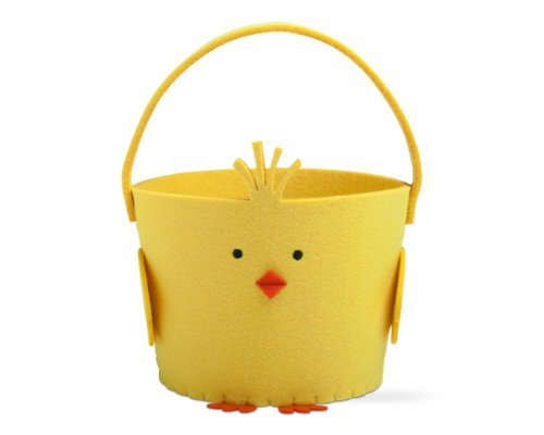 TAG Yellow Chick Felt Basket