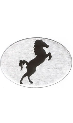 black horse on white Hitch Cover Knockout 409.2 Jumping Horse