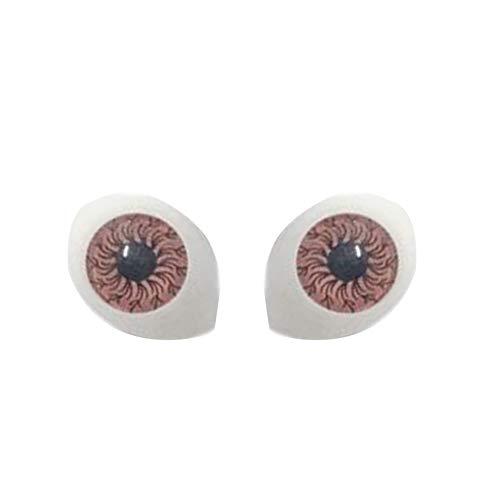 ruiycltd Colored Doll Eyeballs DIY Craft False Eyes for Reborn Making Dollhouse Accessory Home Made Brown from ruiycltd