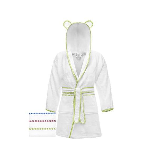 Lovely Hippo - Accappatoio bambini : bambina e bambino, 100% cotone Oeko-Tex senza sostanze chimiche, design francese 1