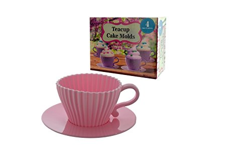 handy helpers Bulk Buys Teacup Cake Molds, 4-Pack