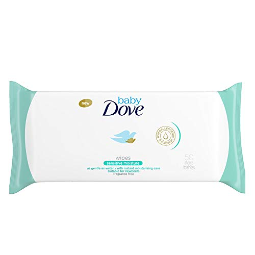 Dove Baby Wipes, Sensitive Moisture, 50 Wipes (Pack of 6)