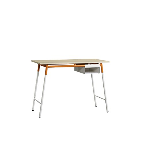 Sauder Maple Desk - Sauder 417738 Desk, Maple/White/Orange