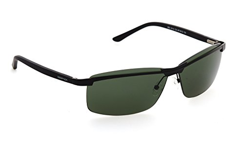 Wrap Sunglasses for Men, By DESPADA Made In Italy Metal Frame UV 400 Protection Eye wear DS 1513c5 (Balck, ()