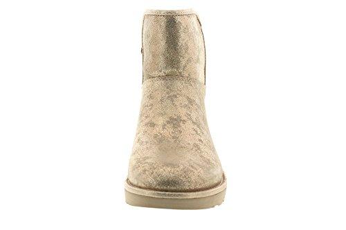 UGG Australia Damen ABREE Mini Stardust Schneestiefel, Silber/Schwarz Gold (Metallic Gold)