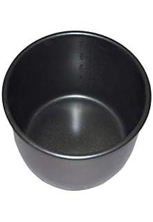 Cubeta con recubrimiento Extra Antiadherente Daikin Negro. Apta para ollas programables de 6 Litros.