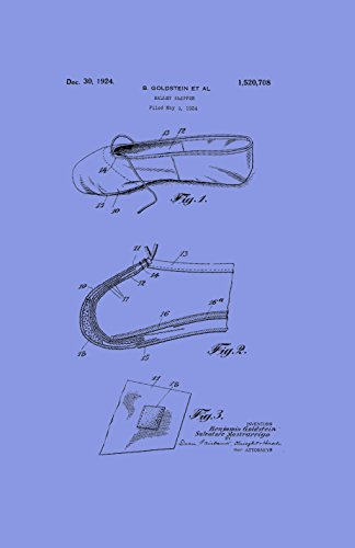 Framable Patent Art the Original Ready to Frame Décor Ballet Slipper Dance Shoe Footwear 24in by 36in Patent Art Poster Print Light PAPMSP50LV, Violet (Footwear Violet Patent)