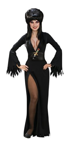 [Secret Wishes Women's Elvira Mistress Of The Dark Adult Costume, Black, Small] (Halloween Costumes Elvira)