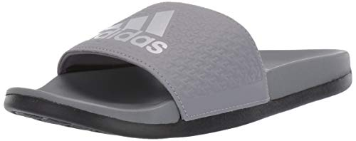 adidas Unisex Adilette Comfort, Grey/Silver Metallic/Black, 12K M US Little Kid
