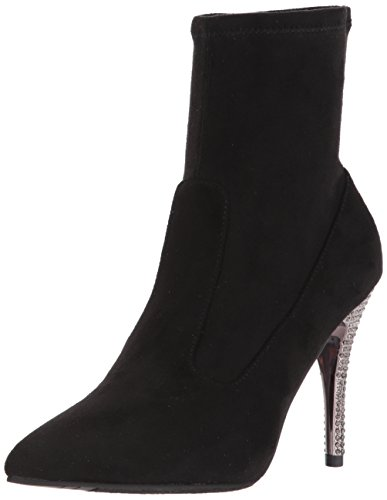 Nina Women's Roxie Ankle Bootie, Suede-True Black, 5 M US by Nina