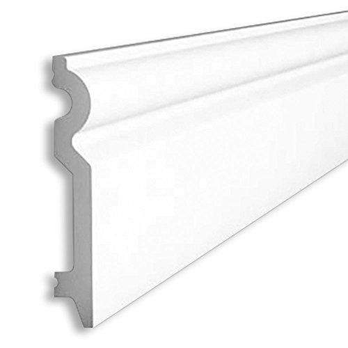 Orac Decor Baseboard Moulding SX137 Baseboard Molding, Primed White. Length: 78