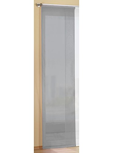 Preisgünstiger Flächenvorhang Schiebegardine, transparent, unifarben, mit Zubehör, 245x60, Grau, 85589