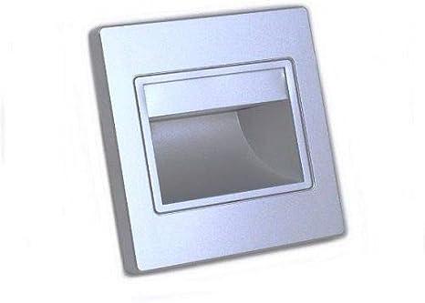 Baliza led color plata, iluminacion 1.5W (165 lm), 3000K (luz calida): Amazon.es: Iluminación