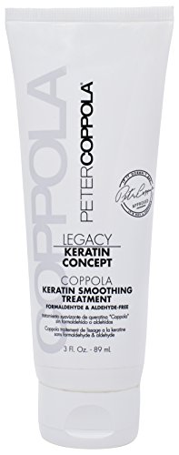 Peter Coppola Keratin Hair Treatment - Formaldehyde Free Smoothing and Straightening Hair Treatment (3oz). Semi Permanent Professional Keratin Hair Treatment for Reducing Frizz and Removing Curls