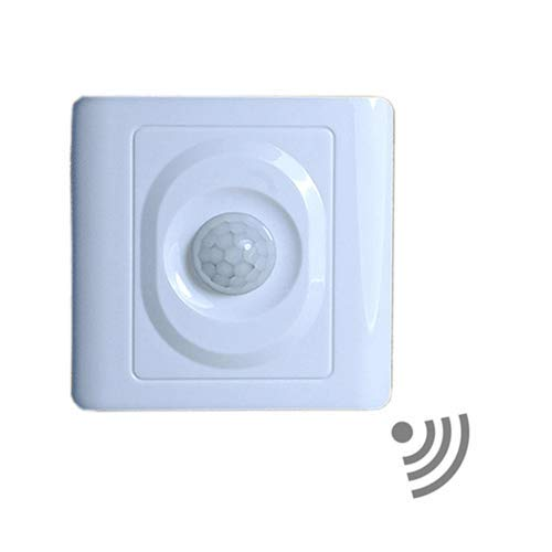 NWLAMP Upgraded White In Wall Motion Sensor Light Switch, PI