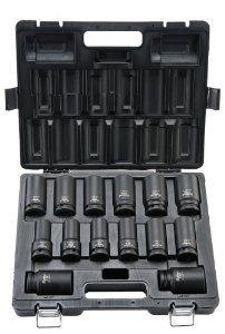 Blackhawk By Proto UW-2614DS 6-Point Drive Deep Impact Socket Set, 3/4-Inch, 14-Piece - Blackhawk Wrench Ratchet