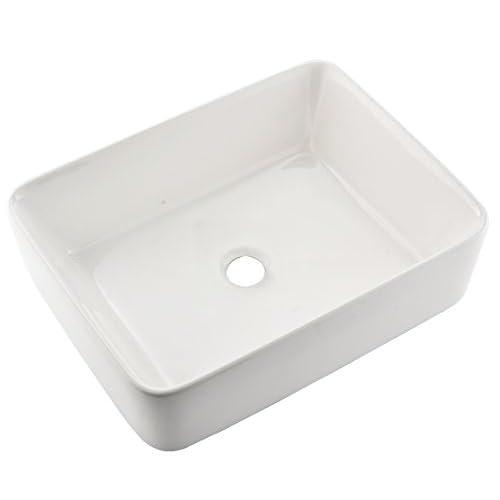 Comllen Above Counter White Porcelain Ceramic Bathroom Vessel Sink Art Basin good