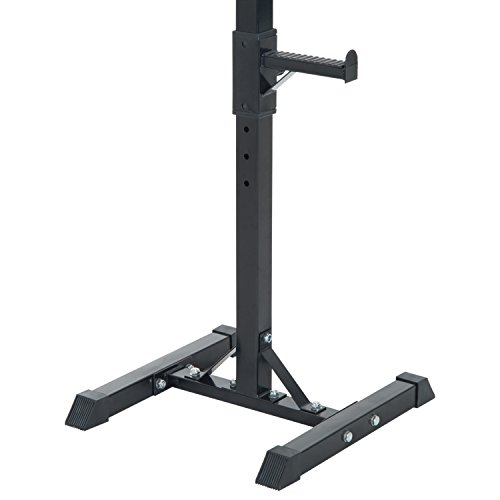 Homcom Heavy Duty Weights Bar Barbell Squat Stand Stands Barbell Rack Spotter Gym Fitness Power