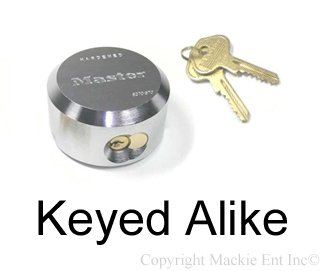 Keyed Padlock, Alike, 2-7/8''W by Master Lock