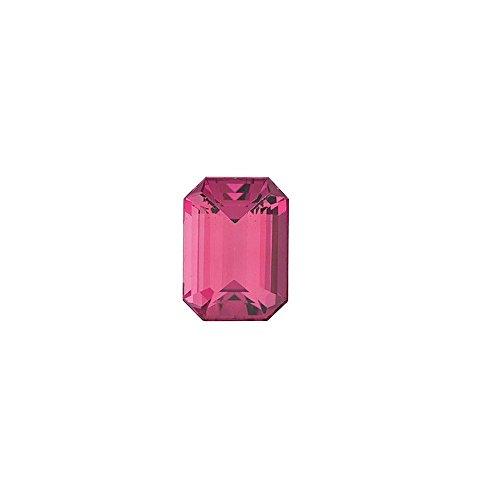 Tourmaline 6x4mm Emerald - Emerald Shape Pink Tourmaline Gemstone Grade AAA, 6.00 x 4.00 mm in Size, 0.6 Carats
