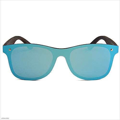Marco Gafas Gafas de Vacaciones Pesca Piece sol de de TAC al madera aire polarizadas One protección 100 Ojos Hombres de libre Lente Polarizado PC gato Playa Pierna Style Personalidad Azul UV de sol x81wUHq6