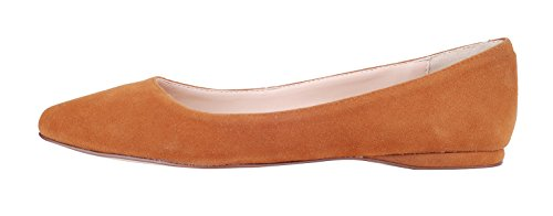 Verocara Women's Genuine Suede Pointed Toe Comfortable Ballet Flats