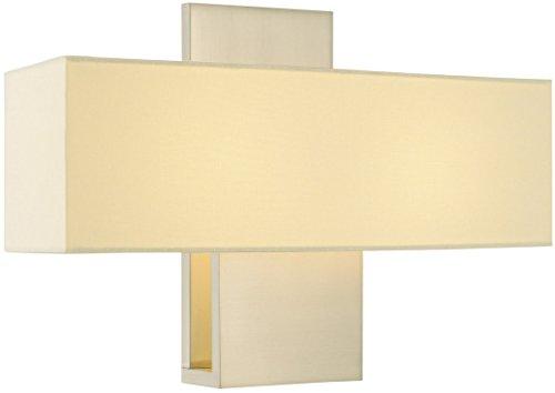 - Sonneman 1861.13, Ombra Wall Sconce Lighting, 2 Light, 40 Total Watts, Satin Nickel