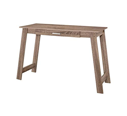 (Wood & Style Furniture Computer Desk with a Drawer Dark Taupe 42
