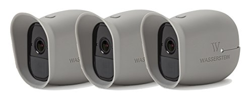 3 x Silicone Skins for Arlo Smart Security - 100% Wire-Free Cameras by Wasserstein ... (Arlo Pro, 3 x Grey)
