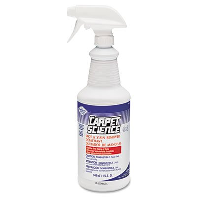 Spot And Stain Remover, 32oz Spray Bottle, 6/Carton, Sold as 1 Carton, 6 Each per Carton by Carpet Science