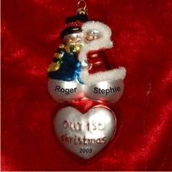 (Our First Christmas Together Ornament)