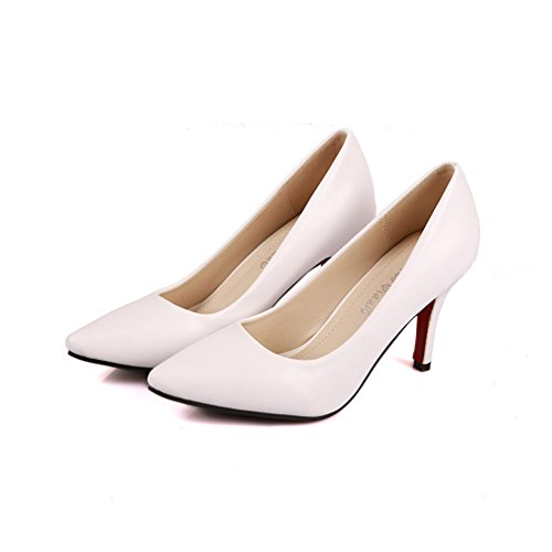 Talon Toe Party Pompes haut Ladies Court OL Blanc Womens Point Xianshu Shoes qUxwSBZZ