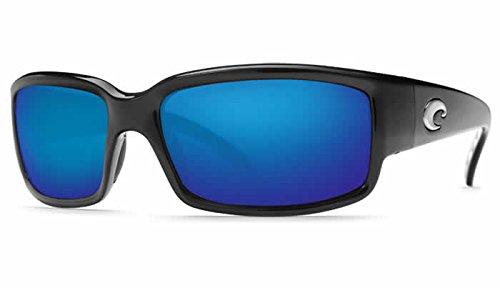Costa Del Mar Caballito 580P Polarized Sunglasses in Black & Blue Mirror ()