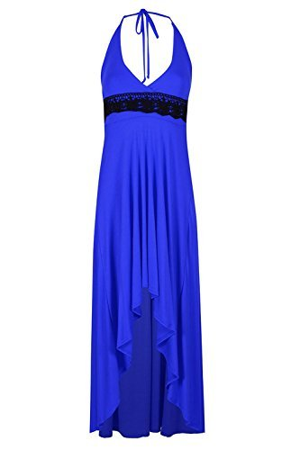 Be Jealous Damen Kleid * Einheitsgröße Königsblau (Schwarze Spitze)